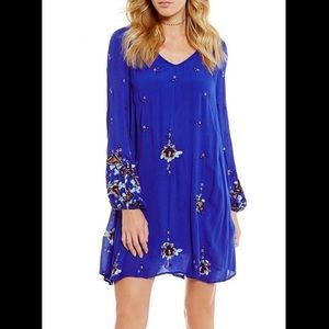Free People NWT❗️Oxford Embroidered Swing Dress